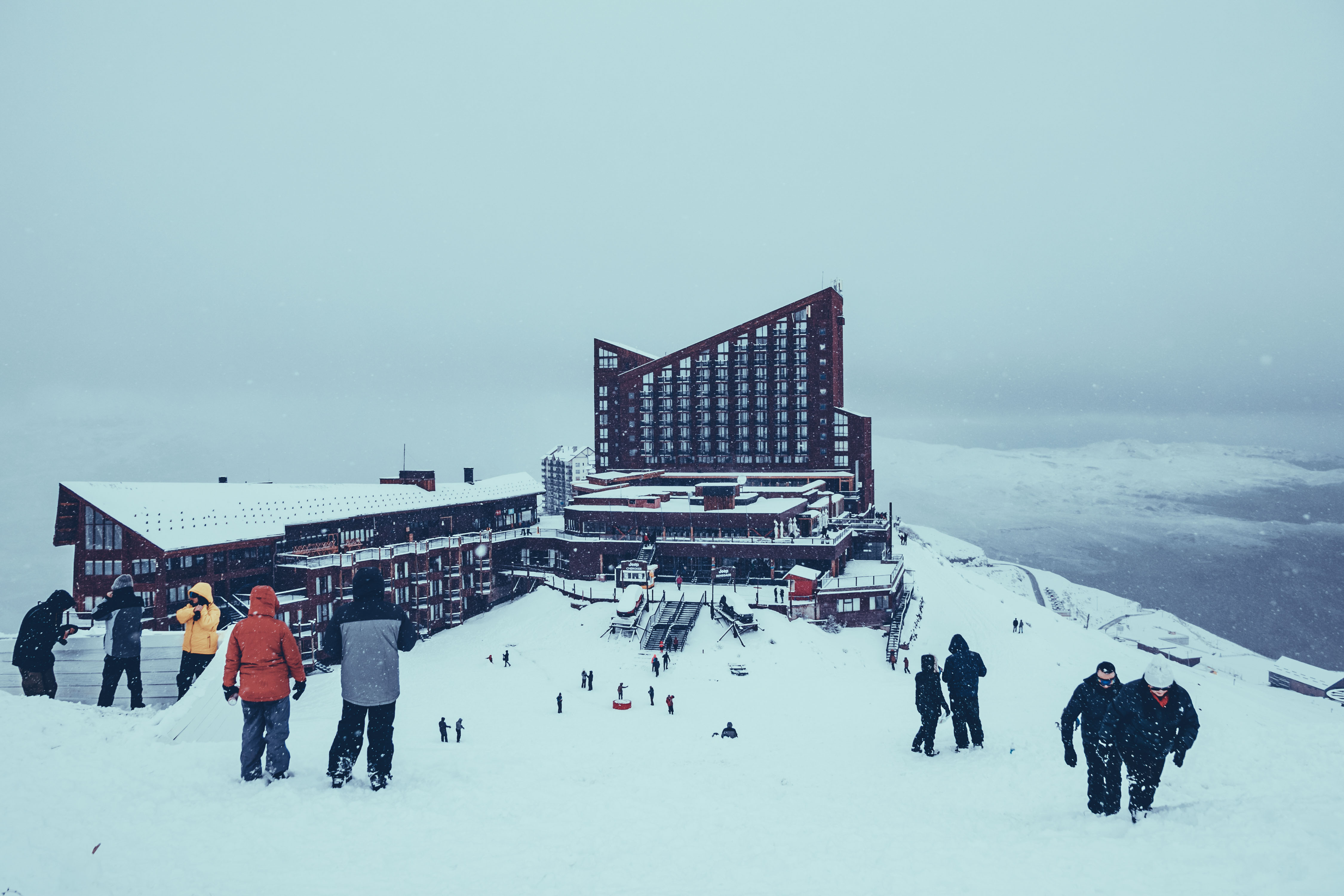 Valle Nevado no Inverno