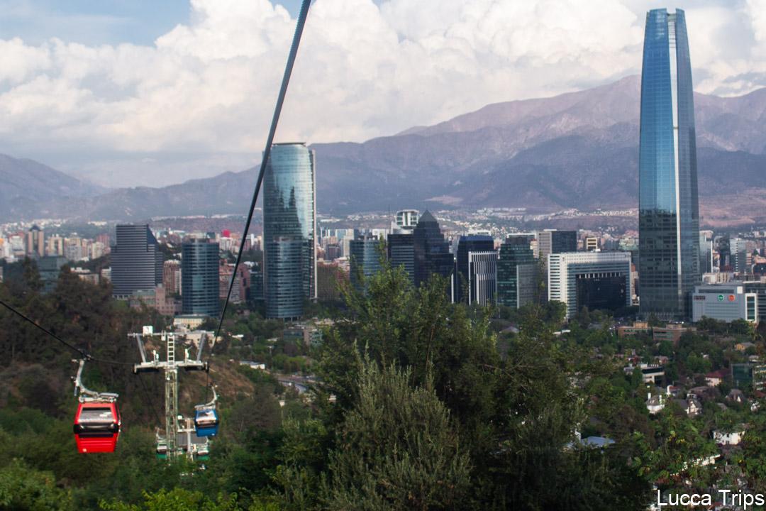 Teleférico de Santiago do Chile, Topo do Cerro San Cristóbal